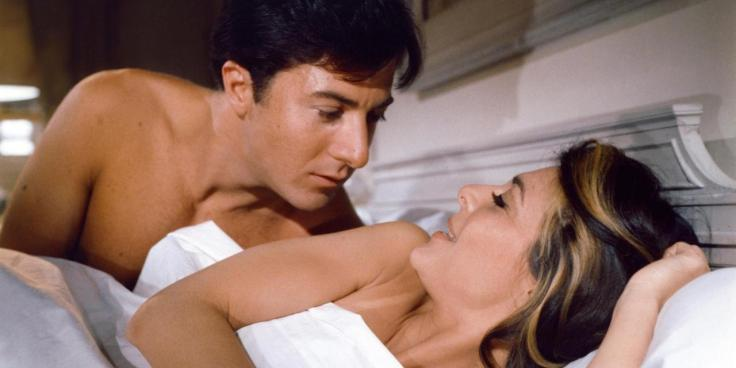 Dustin Hoffman, Anne Bancroft / The Graduate 1968 directed by Mike Nichols