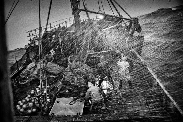 "North Atlantic. 1998. On board the Spanish trawler ""Rowanlea""."